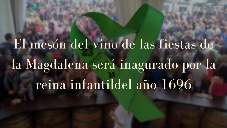 El Mesón del Vino de las fiestas de la Magdalena será inaugurado por la reina infantil del año 1969